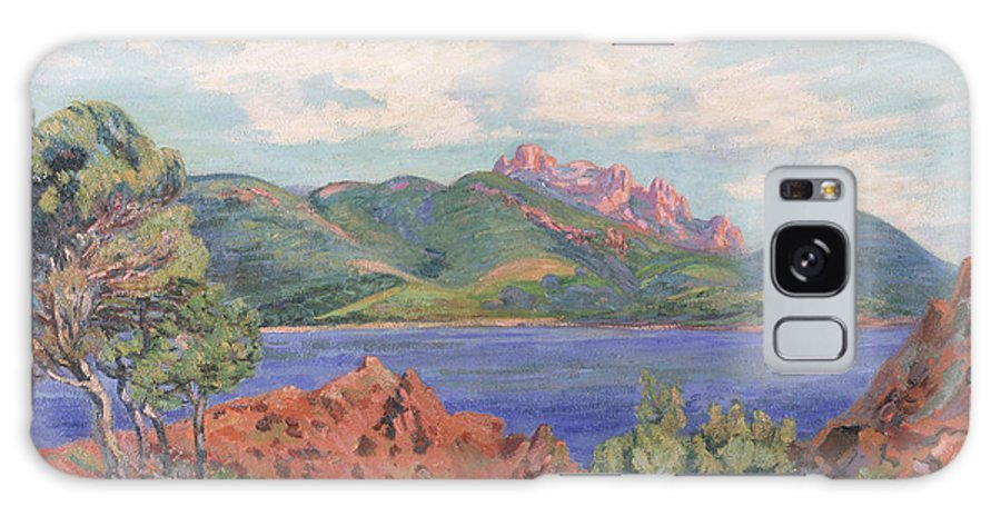 The Galaxy S8 Case featuring the painting The Bay Of Agay by Jean Baptiste Armand Guillaumin