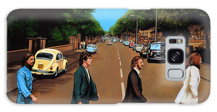 The Beatles Galaxy S8 Case featuring the painting The Beatles Abbey Road by Paul Meijering