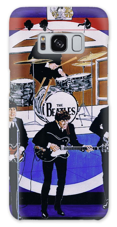 1960s Galaxy S8 Case featuring the drawing The Beatles - Live On The Ed Sullivan Show by Sean Connolly