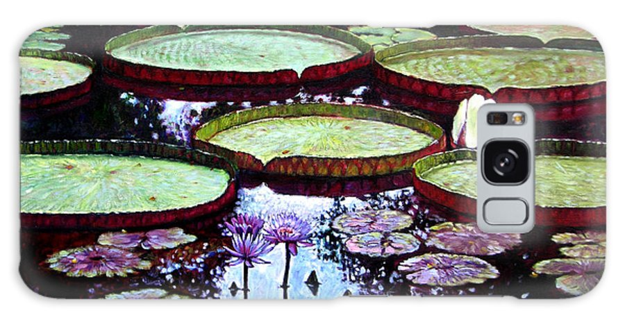 Garden Galaxy S8 Case featuring the painting The Beauty Of Stillness by John Lautermilch