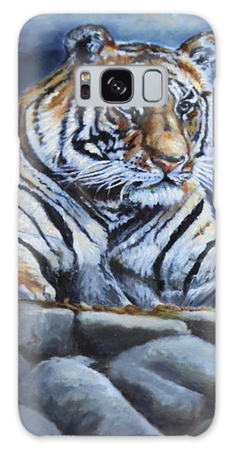 Wildlife Galaxy S8 Case featuring the painting The Bengal Tiger by Portraits By NC