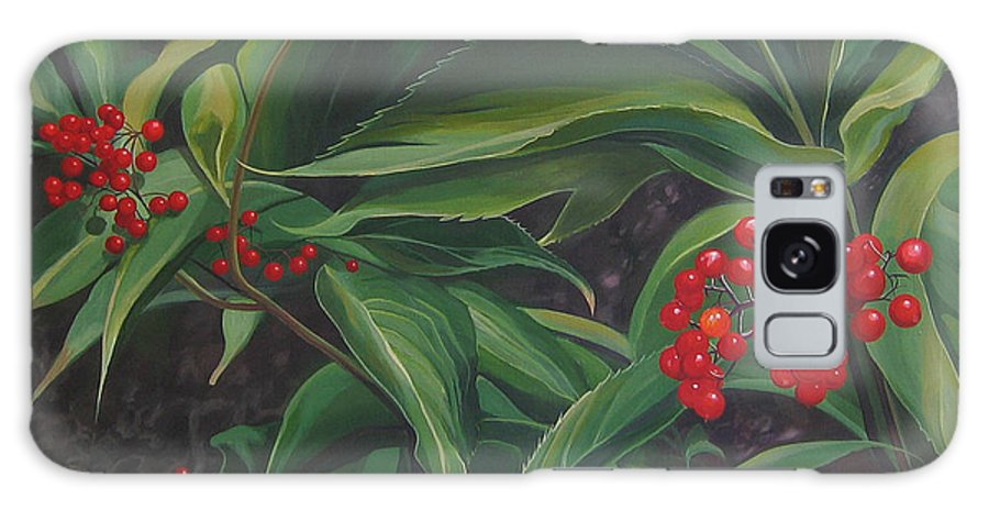 Berries Galaxy S8 Case featuring the painting The Berries On Guanella Pass by Hunter Jay