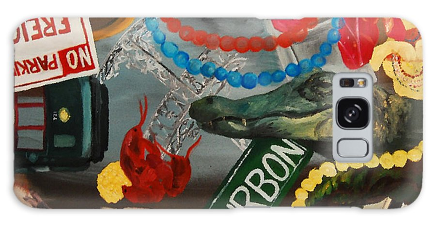 Louisiana Galaxy Case featuring the painting The Big Easy by Lauren Luna