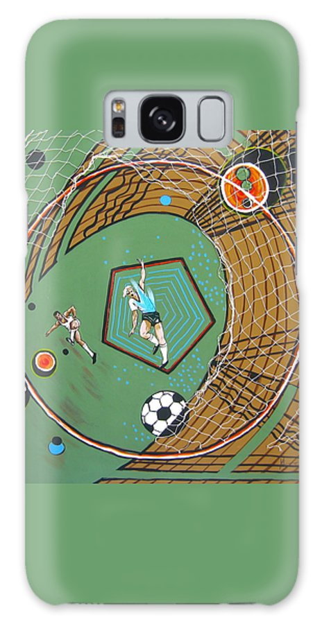 Abstract Sports Galaxy S8 Case featuring the painting The Big Kick by V Boge