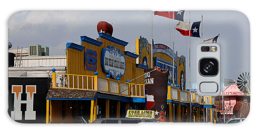 The Big Texan Galaxy S8 Case featuring the photograph The Big Texan In Amarillo by Susanne Van Hulst