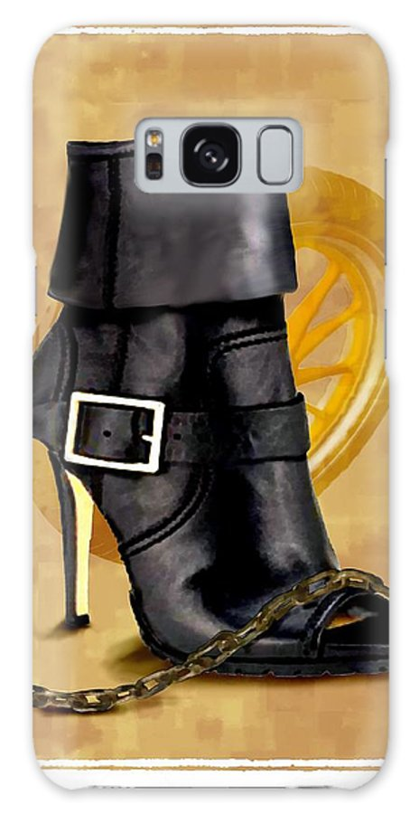 Illustration Galaxy S8 Case featuring the painting The Biker Boot by Jann Paxton