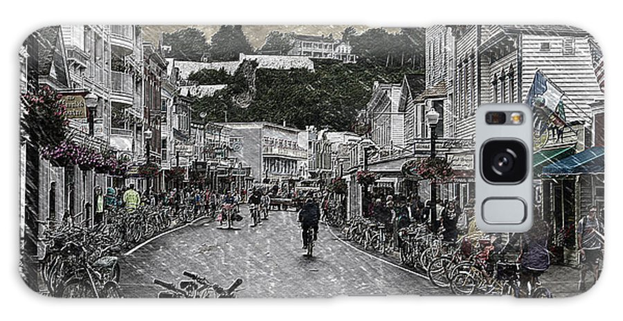 Mackinac Galaxy S8 Case featuring the photograph The Bikes Of Mackinac Island Michigan Pa 04 by Thomas Woolworth