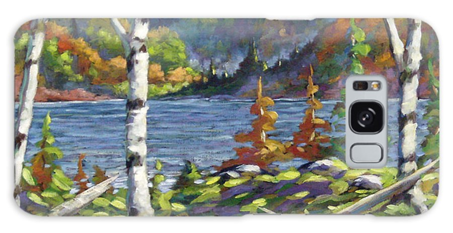 Art Galaxy S8 Case featuring the painting The Birches by Richard T Pranke