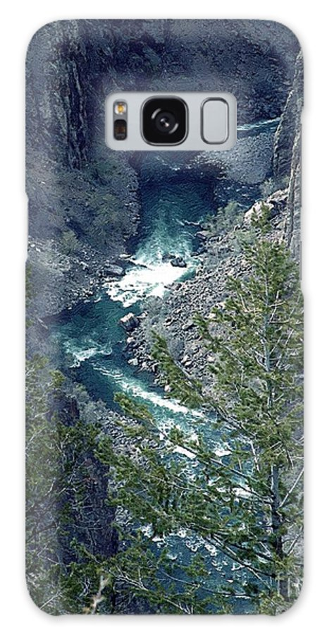 Canyon Galaxy Case featuring the painting The Black Canyon Of The Gunnison by RC DeWinter
