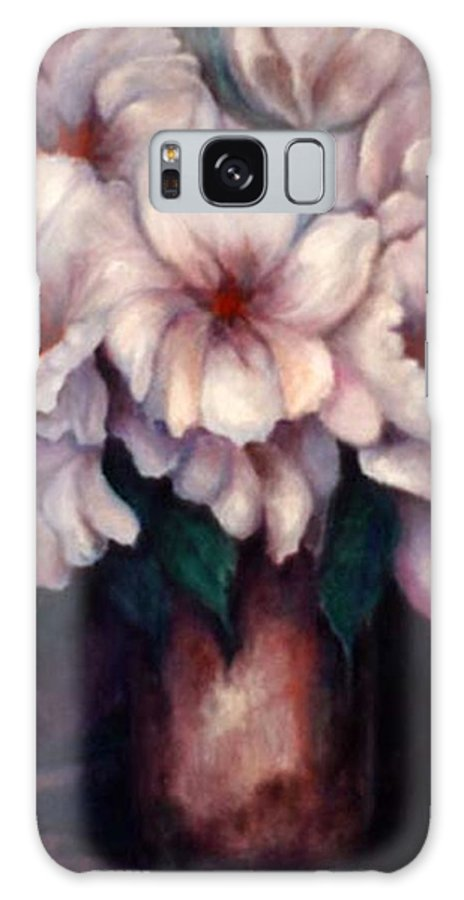 Blue Flowers Galaxy S8 Case featuring the painting The Blue Flowers by Jordana Sands