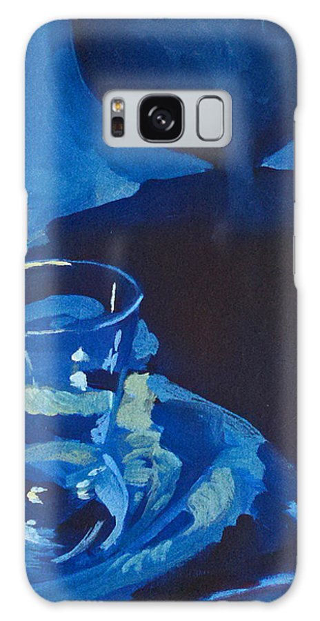 Still Life Galaxy S8 Case featuring the painting The Blues by Lauren Luna