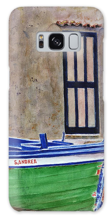 Boat Galaxy S8 Case featuring the painting The Boat by Karen Fleschler
