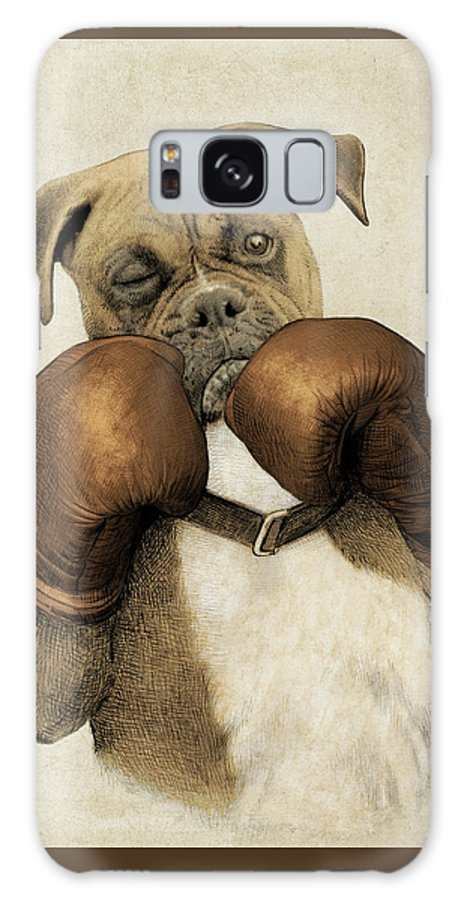 Boxer Galaxy Case featuring the drawing The Boxer by Eric Fan