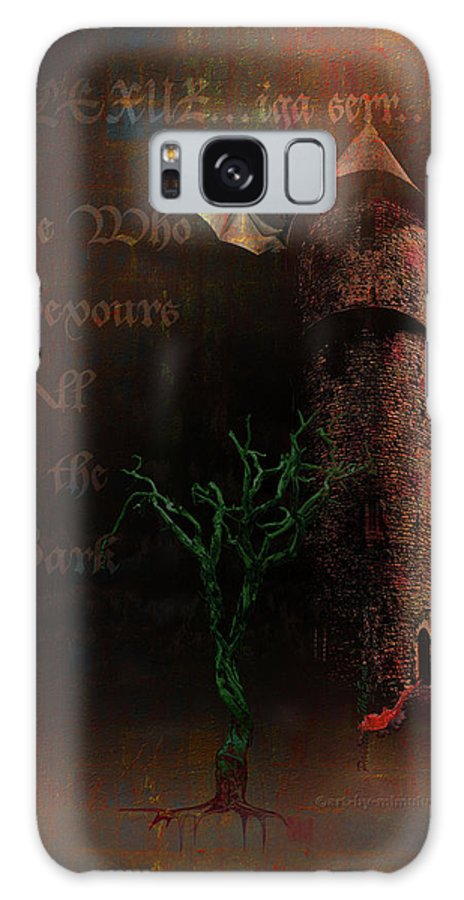 Lovecraft Galaxy S8 Case featuring the digital art The Brown Tower by Mimulux patricia No