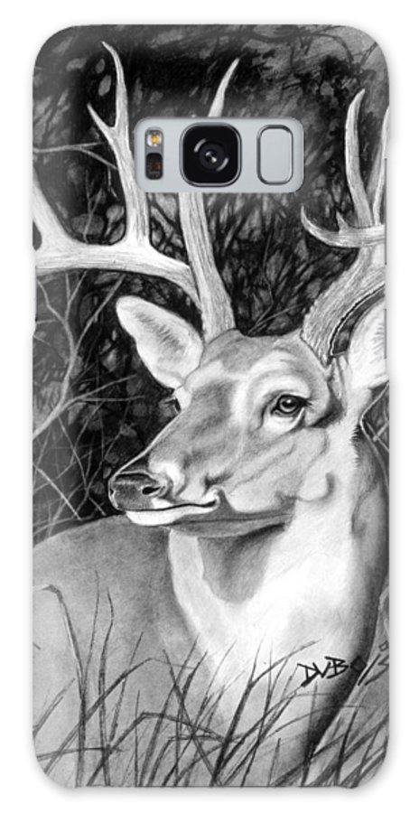 Deer Galaxy S8 Case featuring the drawing The Buck by Howard Dubois
