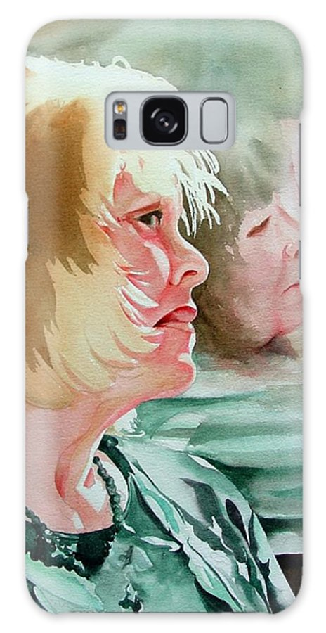Person Galaxy Case featuring the painting The Bus Ride by Marlene Gremillion