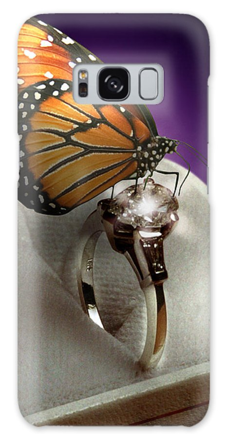Fantasy Galaxy Case featuring the photograph The Butterfly And The Engagement Ring by Yuri Lev