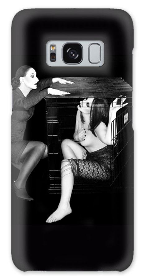 Art Galaxy S8 Case featuring the photograph The Cage 2 - Self Portrait by Jaeda DeWalt