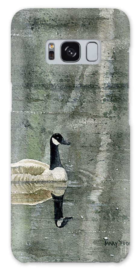 Canada Galaxy S8 Case featuring the painting The Canadian Goose by Mary Tuomi