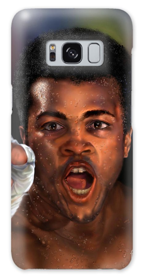 Champion Galaxy S8 Case featuring the painting The Champ Is Here -period by Reggie Duffie