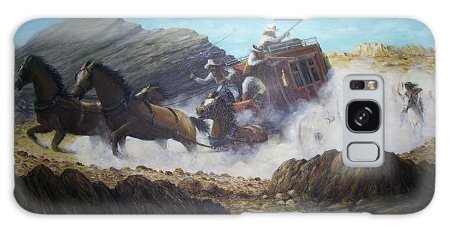 Western Art Galaxy S8 Case featuring the painting The Chase by Perry's Fine Art