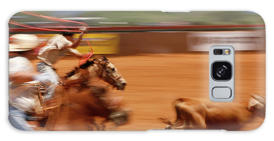 Poipu Rodeo Galaxy S8 Case featuring the photograph The Chase by Roger Mullenhour