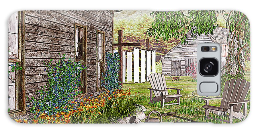 Adirondack Chair Galaxy Case featuring the photograph The Chicken Coop by Peter J Sucy
