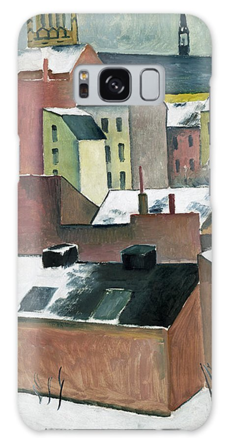 August Macke Galaxy Case featuring the painting The Church Of St Mary In Bonn In Snow by August Macke