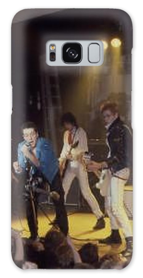 The Clash-london 1978 Photo By Dawn Wirth-copyrighted Galaxy Case featuring the photograph The Clash-london - July 1978 by Dawn Wirth