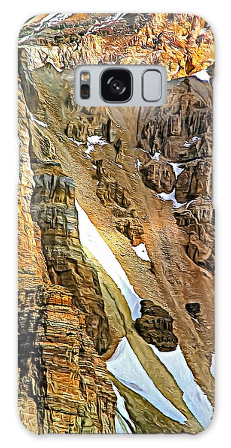 Canadian Rockies Galaxy S8 Case featuring the photograph The Climb To Abbot's Hut - Paint by Steve Harrington