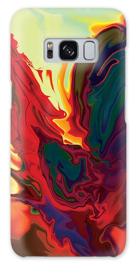 Animals Galaxy Case featuring the digital art The Cock 2 by Rabi Khan