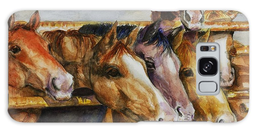 Horses Galaxy S8 Case featuring the painting The Colorado Horse Rescue by Frances Marino