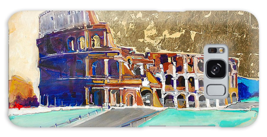 Colosseum Galaxy Case featuring the painting The Colosseum by Kurt Hausmann