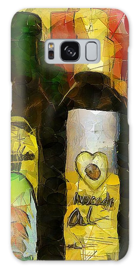 Bottles Galaxy S8 Case featuring the painting The Cook's Elixirs by RC DeWinter
