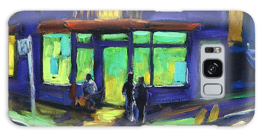Town Galaxy S8 Case featuring the painting The Corner Store by Richard T Pranke
