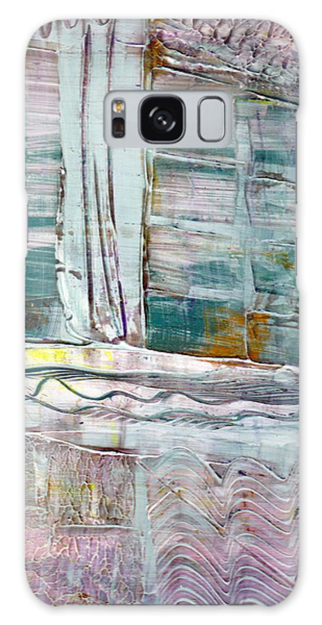 Abstract Galaxy S8 Case featuring the painting The Corner Window by Wayne Potrafka