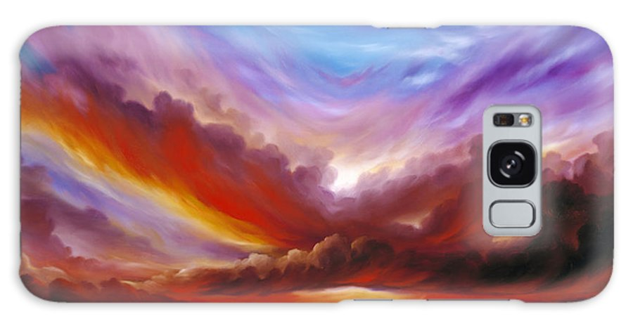 Skyscape Galaxy S8 Case featuring the painting The Cosmic Storm II by James Christopher Hill
