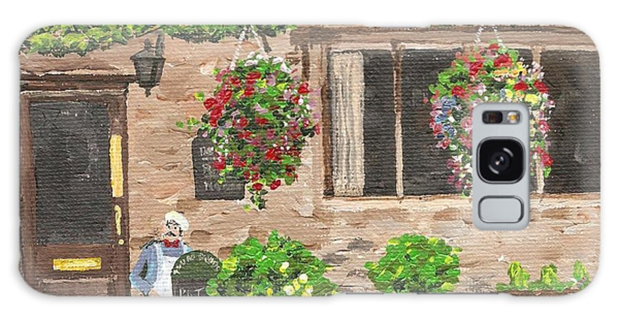 Cafe Galaxy S8 Case featuring the painting The Cotswold Arms by Keith Wilkie