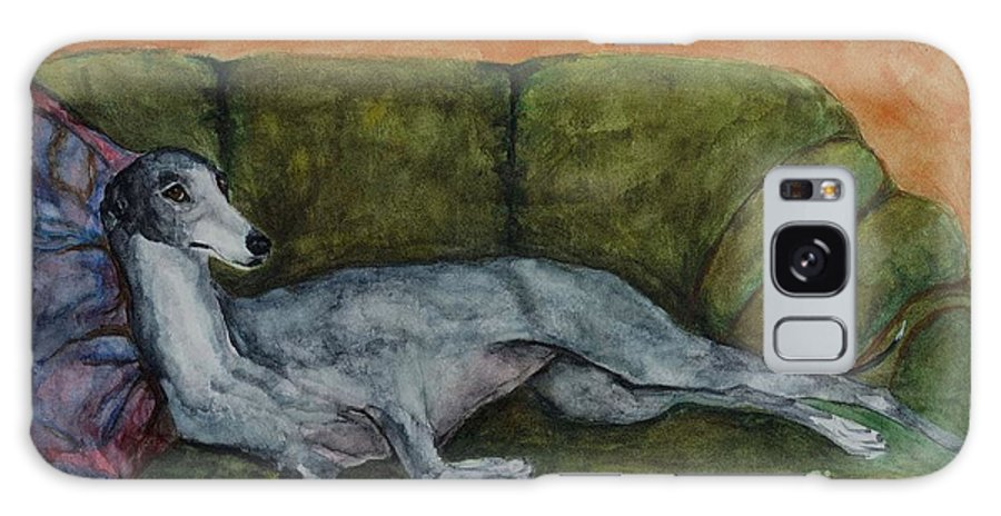 Greyhounds Galaxy Case featuring the painting The Couch Potatoe by Frances Marino