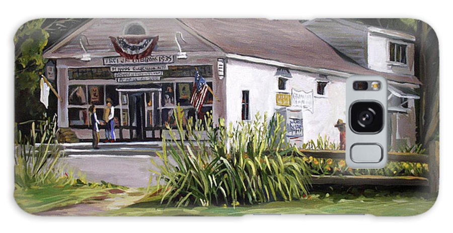 Buildings Galaxy S8 Case featuring the painting The Country Store by Nancy Griswold