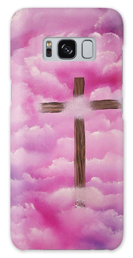 Cross Artwork Galaxy Case featuring the painting The Cross Of Redemption by Laurie Kidd