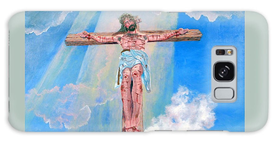 Christian Galaxy S8 Case featuring the painting The Crucifixion Daytime by Stan Hamilton