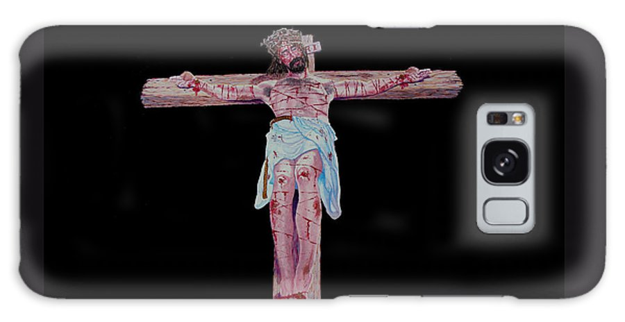 Crucifixion Galaxy S8 Case featuring the painting The Crucifixion by Stan Hamilton