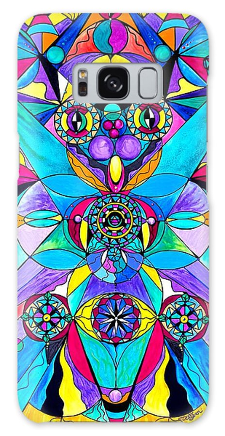 Vibration Galaxy S8 Case featuring the painting The Cure by Teal Eye Print Store