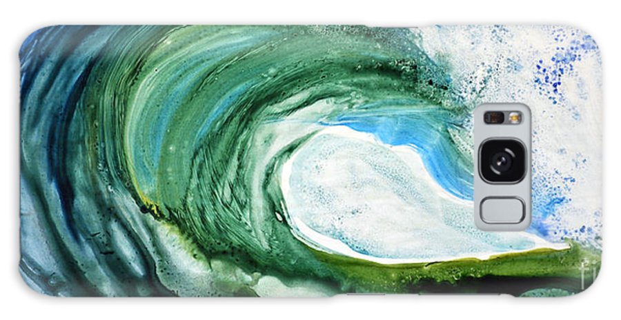 Watercolor Galaxy S8 Case featuring the painting The Curl by Joan Hartenstein