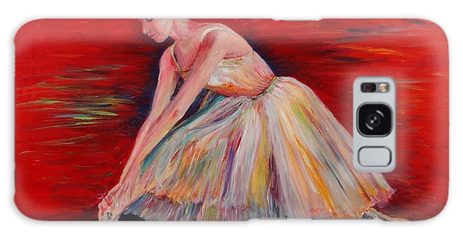 Dancer Galaxy S8 Case featuring the painting The Dancer by Nadine Rippelmeyer