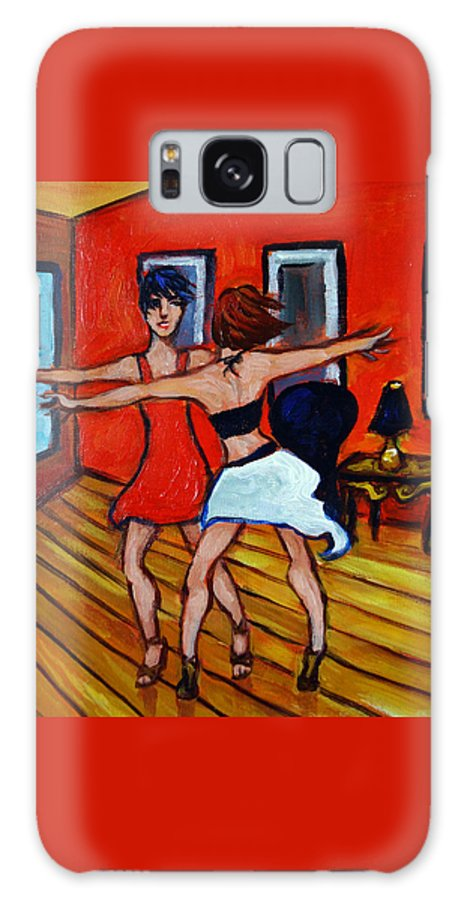 Dancers Galaxy S8 Case featuring the painting The Dancers by Valerie Vescovi