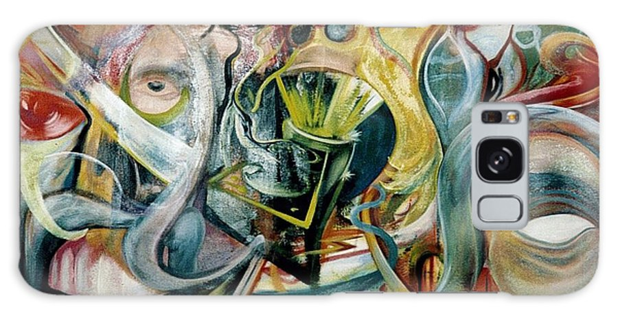 Jester Galaxy Case featuring the painting The Danger In Joy by Will Le Beouf