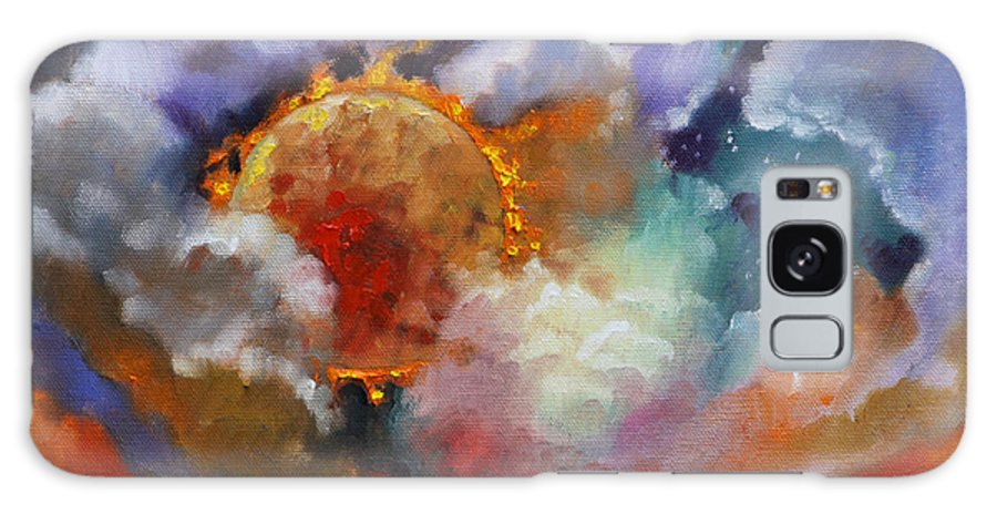 Universe Galaxy S8 Case featuring the painting The Day the Sun Stood Still by John Lautermilch