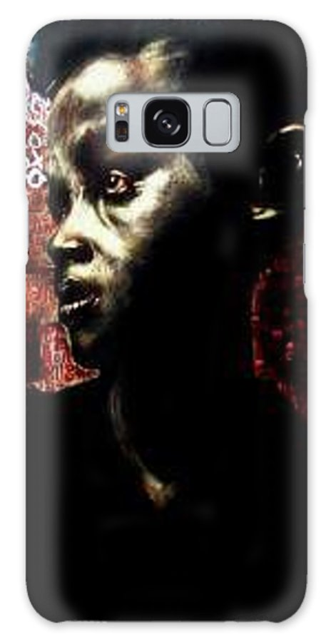 Portrait Galaxy Case featuring the mixed media The Day We First Met by Chester Elmore